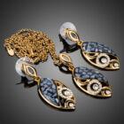 Smoon arany-kékes dekoratív ékszer szett