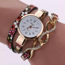 Masnis-virágos óra fekete-rózsaszín