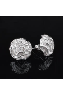 Ezüstös rózsa fülbevaló
