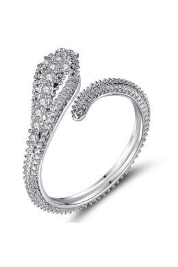 Elda kristályos állítható méretű kígyó gyűrű