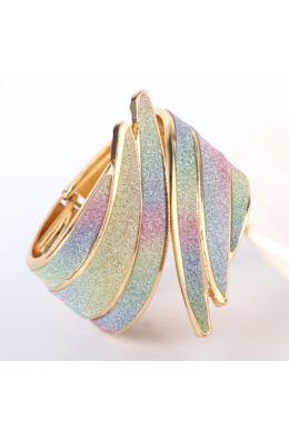 Madárszárny karperec gold-szivárvány