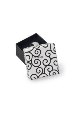 Mintás díszdoboz gyűrű-fülbevaló-nyaklánc 50x50x30mm