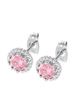 Pici beszúrós csillogó fülbevaló rózsaszín