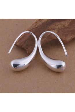 Extravagáns ezüstös fülbevaló