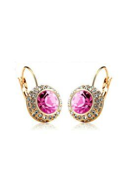 Hercegnő fülbevaló gold-pink