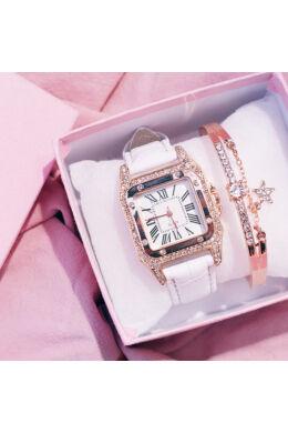 Cameo női óra karkötővel white-rosegold