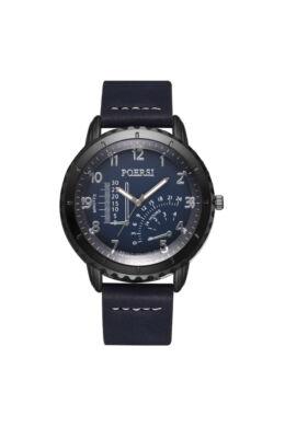 Sportos modern bőrszíjas férfi óra kék