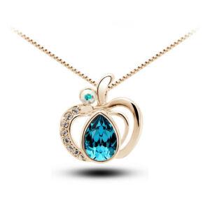 Alma medálos nyaklánc gold-kék