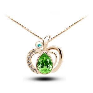 Alma medálos nyaklánc gold-zöld