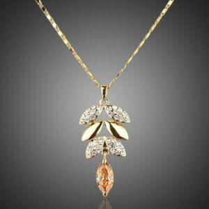 Smoon csillogó arany levelek nyaklánc