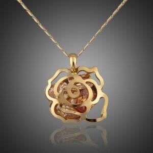 Gold-pezsgő rózsa nyaklánc