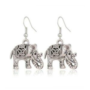 Vintage elefánt fülbevaló