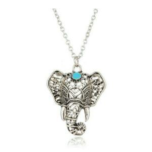 Elefánt kékkel nyaklánc