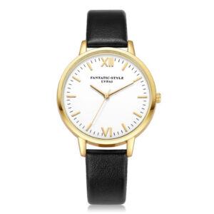 Elegáns nagy számlapos női óra fekete-arany