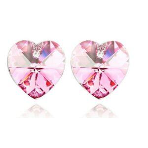 Swarovski szív fülbevaló light-pink