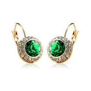 Hercegnő fülbevaló gold-zöld