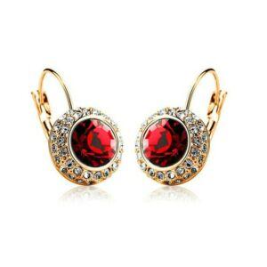 Hercegnő fülbevaló gold-piros