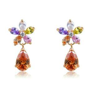 Smoon Luxury Fleur multicolor fülbevaló