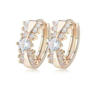 Smoon Luxury Cassandra gold-white fülbevaló