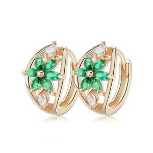 Smoon Luxury Flores green-gold fülbevaló