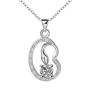 Kígyó kristállyal ezüstös nyaklánc