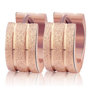 Nemesacél Smoon Luxury Surf rosegold fülbevaló