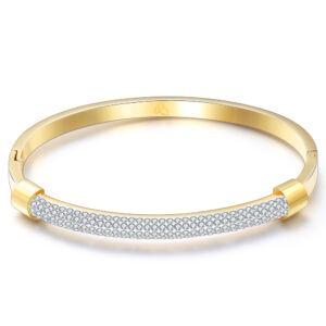 Princy nemesacél karkötő Swarovski kristállyal gold