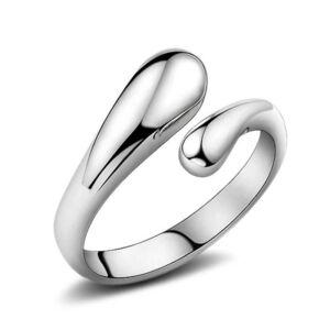 Vízcseppek gyűrű whitegold (állítható méret)