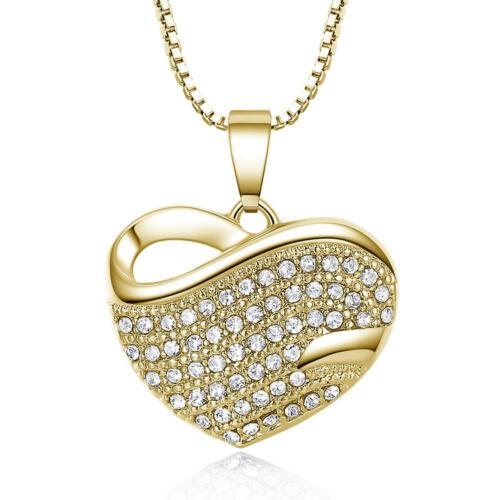 Szív hullámokkal nyaklánc gold