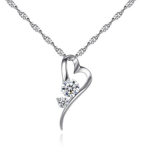 Szívben két kristály nyaklánc