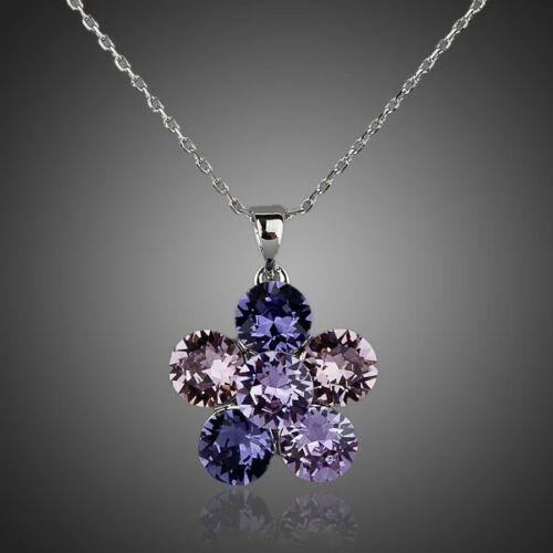 Smoon lilás kristályvirág nyaklánc