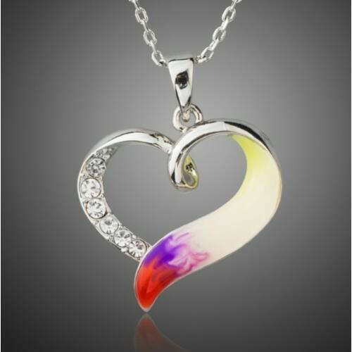 Smoon színes szív nyaklánc