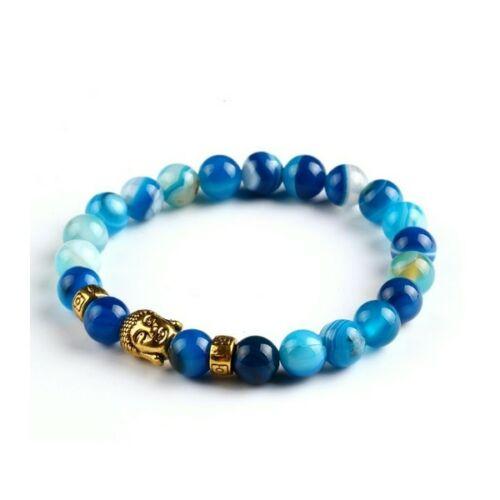 Buddha karkötő kék-arany