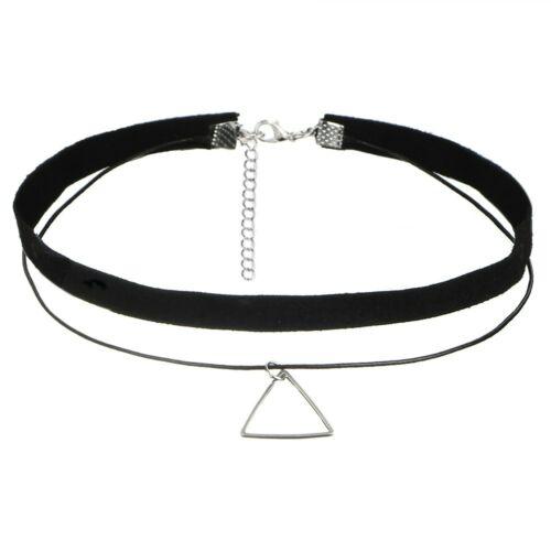 Choker nyaklánc ezüstös háromszöggel