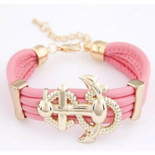 Horgonyos karkötő pink
