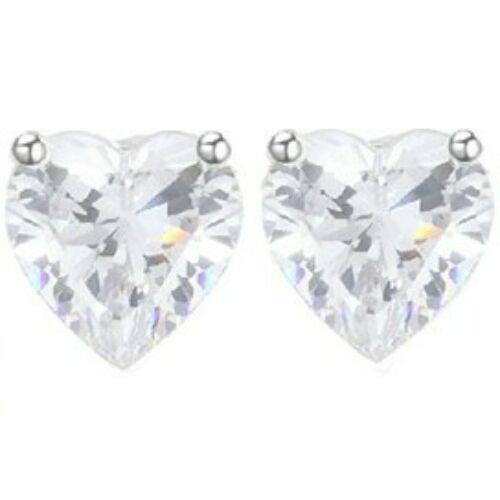 Beszúrós kis kristály szív fülbevaló