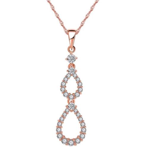 Rosegold hölgy nyaklánc  Swarovski kristályokkal