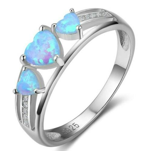 Opál három szív gyűrű 54,3 mm