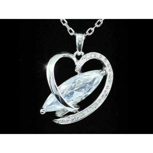 Smoon szimulált gyémántos szív nyaklánc 271