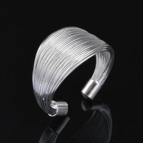 Ezüstszálak gyűrű (állítható méret)