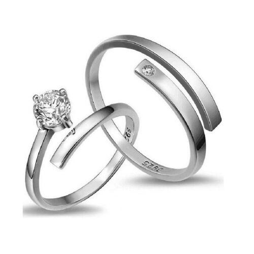 Egykristályos gyűrű pároknak (állítható méret)