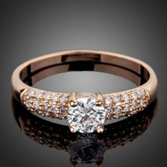 Smoon Forever Love rosegold gyűrű -54,3 mm