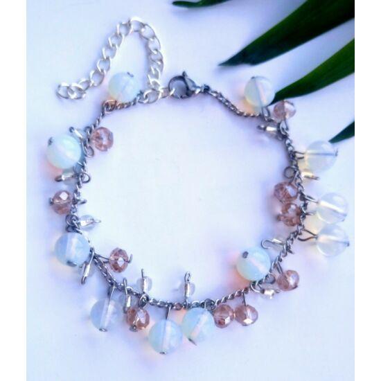 Opalit láncos karkötő