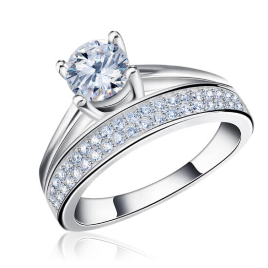 Principessa gyűrű whitegold