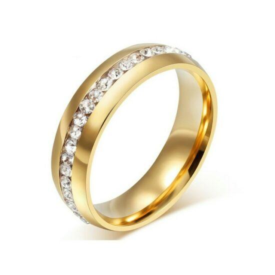 Nemesacél Smoon Luxury egysoros gyűrű gold