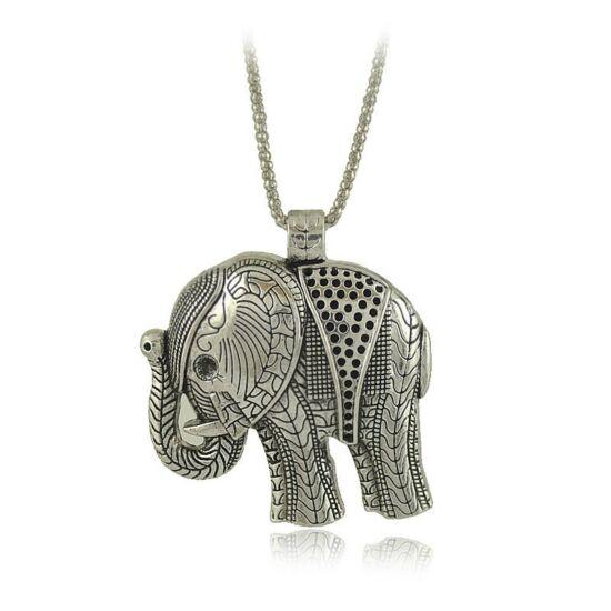 Ezüstös nagy elefánt medálos nyaklánc