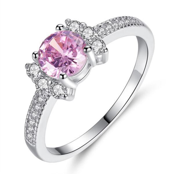 Cianna pink kristályos gyűrű