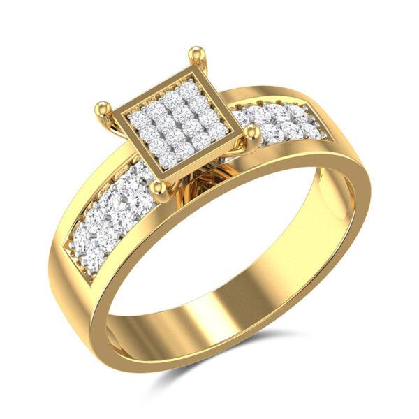 Cira kristályos gyűrű gold