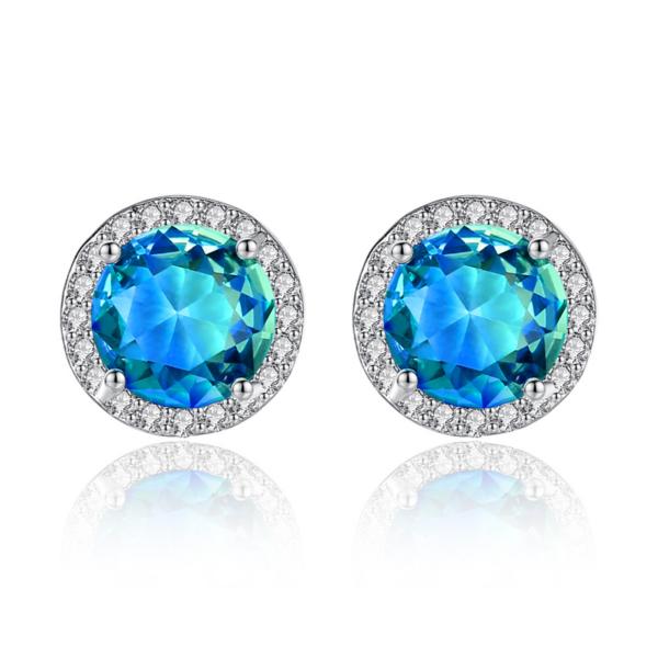 Gratiana Swarovski kristályos fülbevaló kék