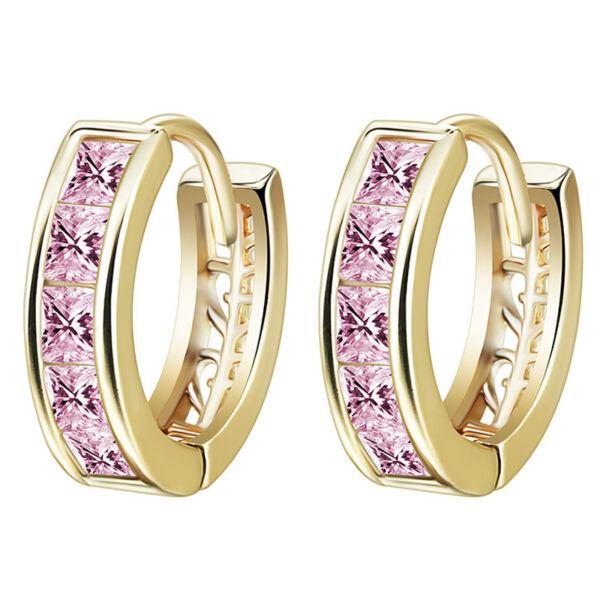 Carlotta fülbevaló gold-pink